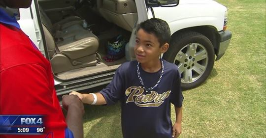 Boy whose heart stopped during baseball game meets the paramedic who saved him