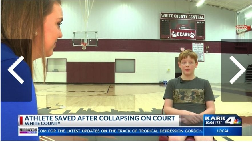 Boy Collapses on Court, Coach and SRO Help Save His Life