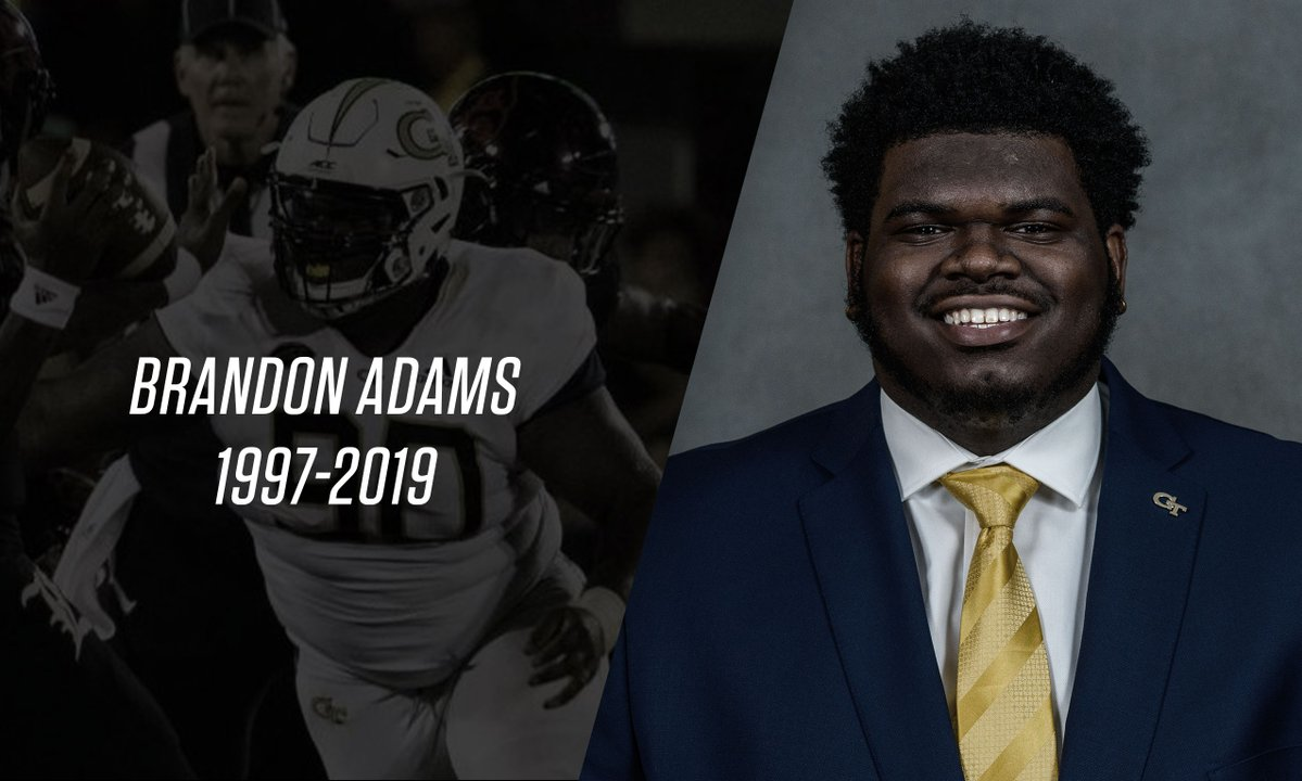 Georgia Tech D-lineman Adams dies at age 21