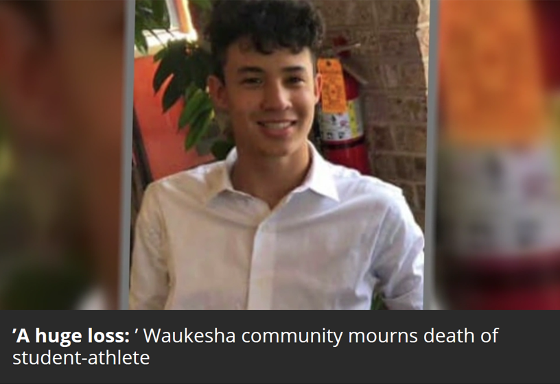 'A huge loss:' Waukesha community mourns death of student-athlete