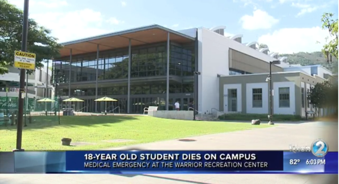 UH Manoa student dies during workout