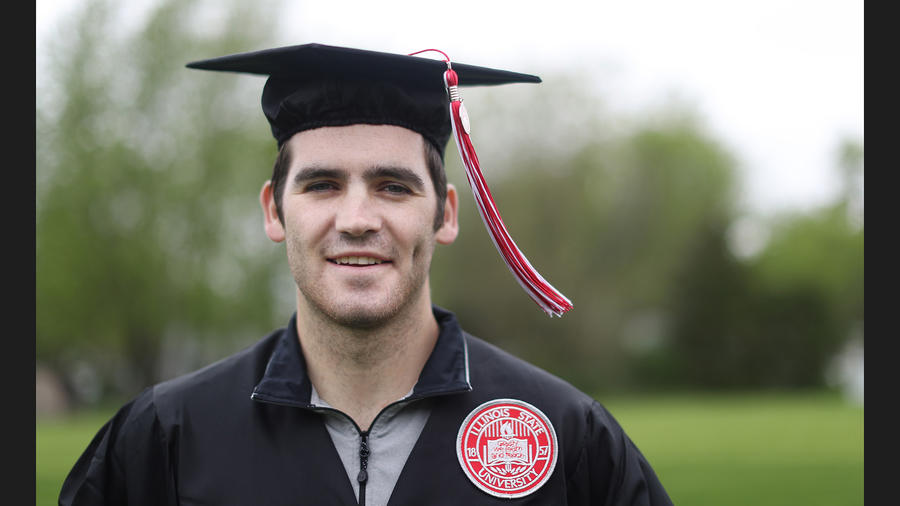 After he went into cardiac arrest, friends saved him with CPR. 3 weeks later he's graduating from Illinois State
