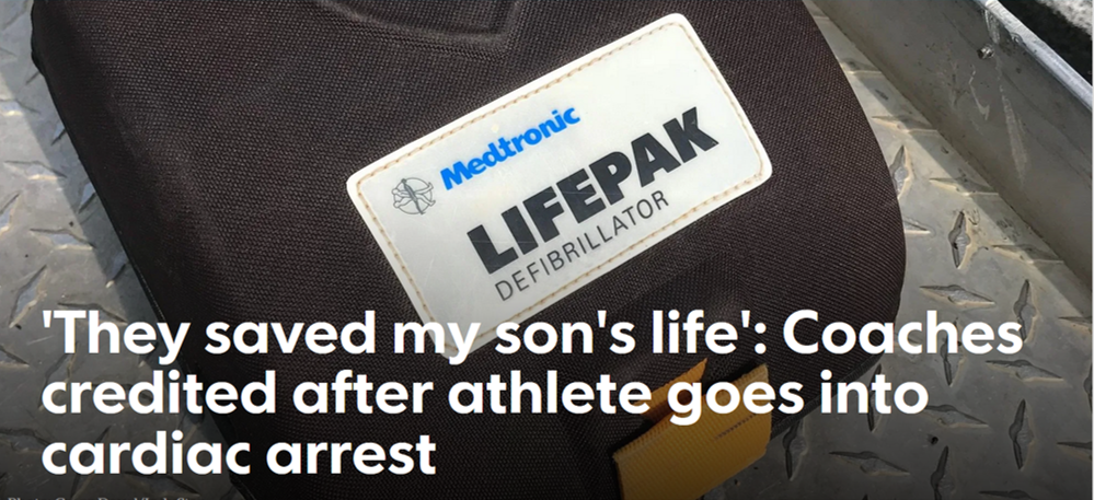 'They saved my son's life': Coaches credited after athlete goes into cardiac arrest