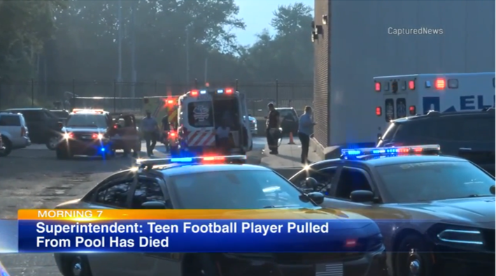 Teen football player dies after being pulled from NW Indiana high school pool