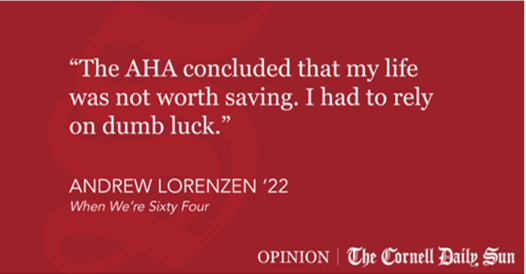 LORENZEN | Why The American Heart Association Believes My Life is Not Worth Living