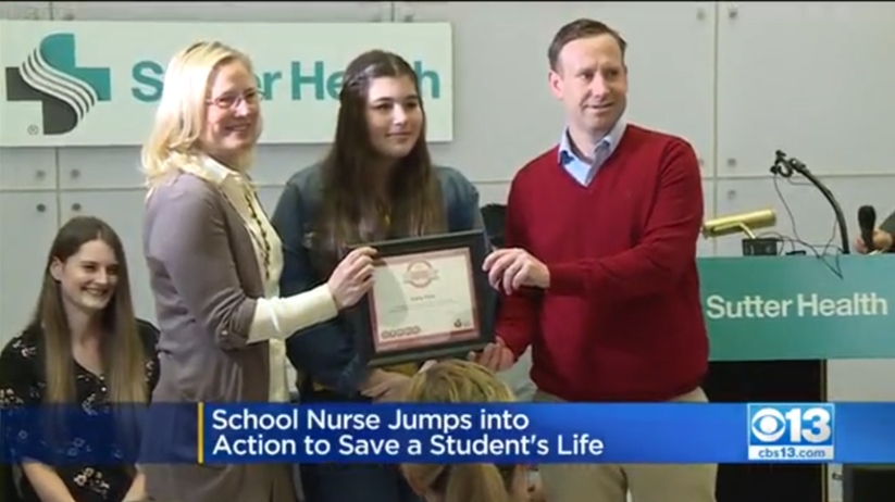 School Nurse Jumps Into Action To Save Student's Life