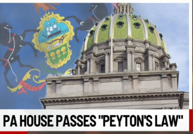 Peyton's Law passes in Pa. House