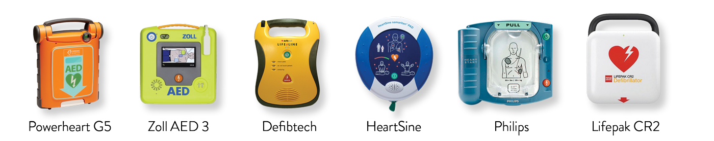 image AEDLineup 1400x278 - AEDs and PAD Programs