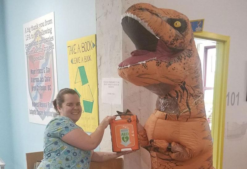 image GetChargedUp Dino 800x550 - Help Us Keep School Communities Heart Safe